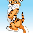 A cute tiger cartoon illustration. - Stock Vector
