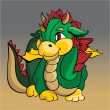 Cartoon dragon - vector illustration. - Image vectorielle