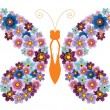 Decorative butterflie — Stock Vector