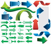 3d coloré vector ensemble de flèches — Vecteur