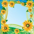 Flowers frame - Stock Vector