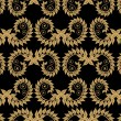 Seamless Damask floral background pattern — ベクター素材ストック