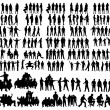 Vector silhouettes — Stock Vector