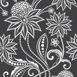 Seamless floral background - Stockvektor