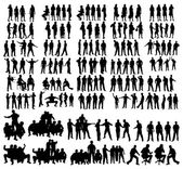 Vector silhouettes — Stock Vector