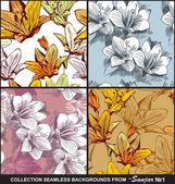 Bezszwowe tło kwiatowy — Wektor stockowy