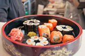 Sushi different nations — Stock Photo