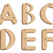 Wooden alphabet — Stock Photo #3166741