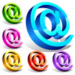Set of 3d email symbols — Stock Photo