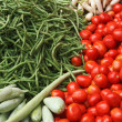 Vegetable market. India - Stock Photo