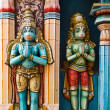 Hanuman statues in Hindu - Stock Photo