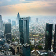 View from the Maintower in Frankfurt - Stock Photo