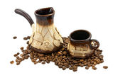Clay set for coffee — Stock Photo