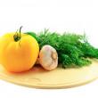 Natürmort taze vegatebles dan — Stok fotoğraf
