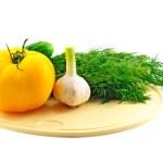 Натюрморт со свежими овощами — Стоковое фото