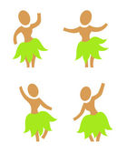 Hula dancers — Stock Vector