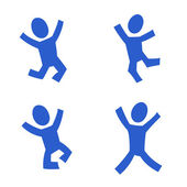 Jumping figures — Stock Vector