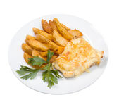 Codfish with potatoeses — Stock Photo