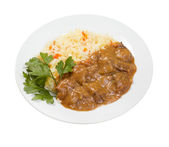 Beef goulash isolated — Stock Photo