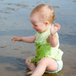 Little baby girl on the beach — Stock Photo #2812426
