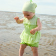 Little baby girl on the beach — Stock Photo #2812699