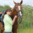 Beautiful girl and horse. — Stock Photo #2868553