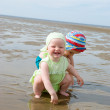 Kids playing at the beach Sea — Stock Photo #2868756