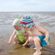 Kids playing at the beach Sea — Stock Photo #2868872
