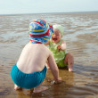 Kids playing at the beach — Stock Photo #2869292