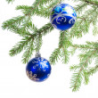 Christmas ornament with christmas tree. — Foto de Stock