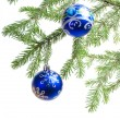 Christmas ornament with christmas tree. - Stock Photo