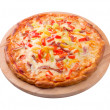 tasty italian pizza.neapolitan — Stock Photo