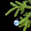 Christmas tree ornaments on dark — Stock Photo #2869707