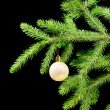 Christmas tree ornaments on dark — Stock Photo #2869712