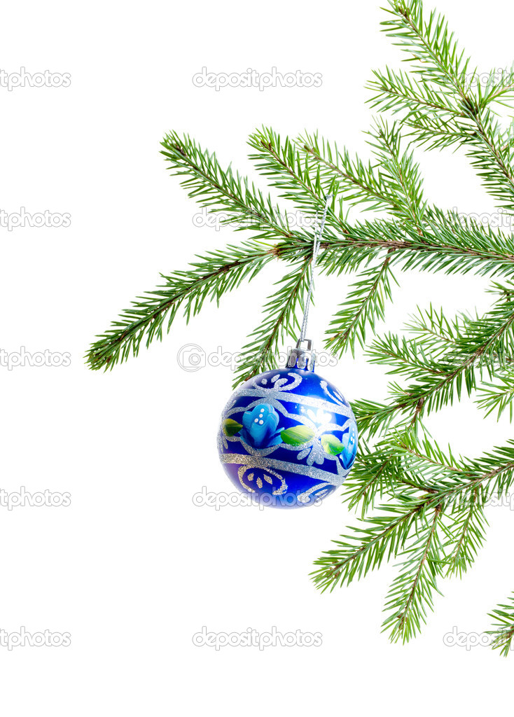 Christmas ornament with christmas tree — Stock Photo #2869576