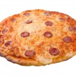 smakelijke Italiaanse pizza pepperoni.isolated — Stockfoto