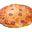 god italiensk pizza pepperoni.isolated — Stockfoto