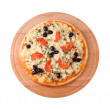 Home pizza with tomato and eggplant — Stock Photo #2890095