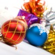 Christmas balls. xmas tree decoration — Stock Photo