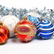 Christmas balls. xmas tree decoration — Foto de Stock