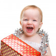 Image  cute baby with Christmas - Stock Photo