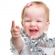 Royalty-Free Stock Photo: Image  cute baby with Christmas