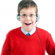 Stock Photo: Portrait of child with headset.