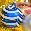 Christmas balls. xmas tree decoration — Stockfoto