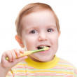 Child with dental toothbrush — Stock Photo #2927586