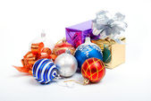 Christmas balls. xmas tree decoration — Stock Photo