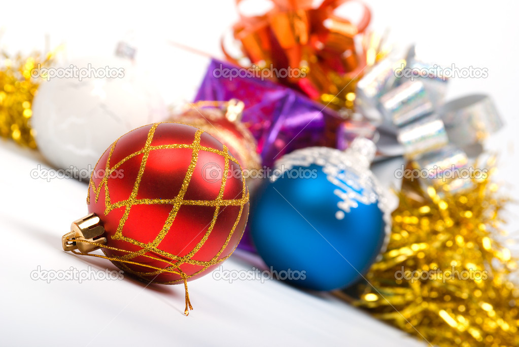 Christmas balls. xmas tree decoration ,bright embellishment   Stock Photo #2924127