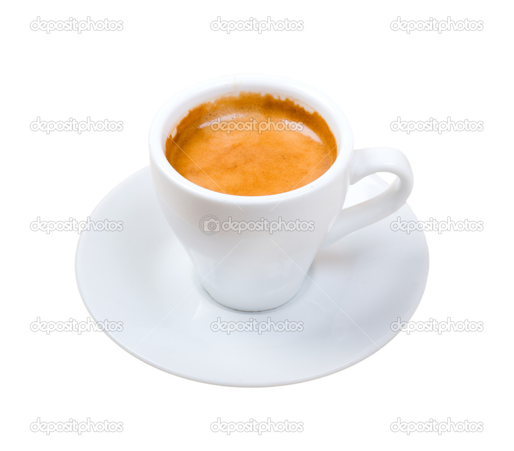 Espresso Maccako   . Cup of coffee ..isolated on white background.clipping Path — Stock Photo #2924182