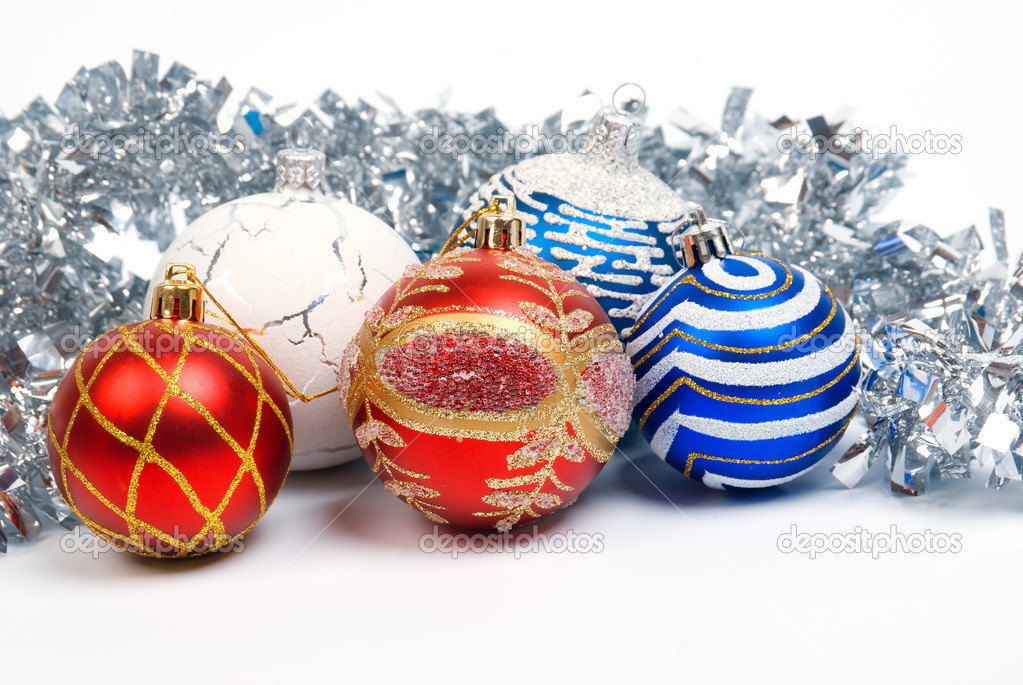 Christmas balls. xmas tree decoration ,bright embellishment  — Stock Photo #2924200