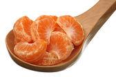 Fatias de tangerina — Fotografia Stock